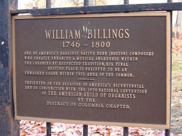 William Billings Marker