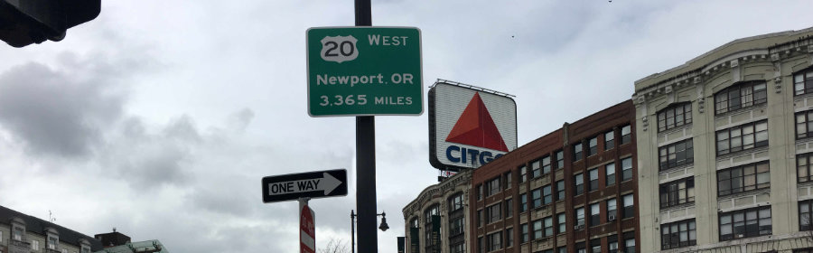 New Port Sign
