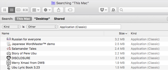 Searching Mac