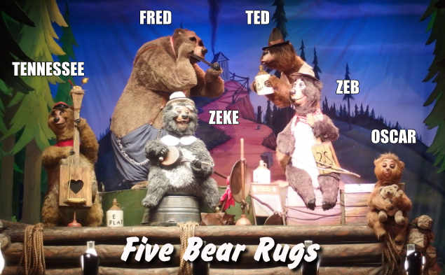 The Five Bear Rugs