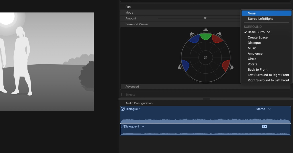 Final Cut Pro Pan Audio